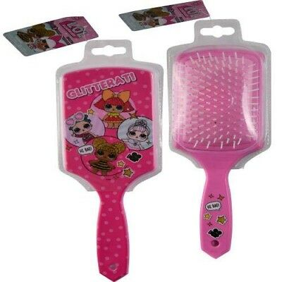 LOL SURPRISE GIRLS PADDLE LARGE HAIR BRUSH PINK GLITTER QUEEN BEE KIDS GIFT NEW