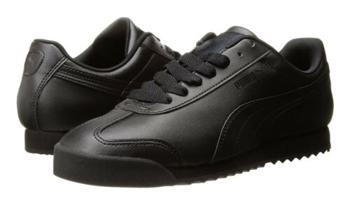 90bf40c6473a5a 1 of 7FREE Shipping PUMA Roma Basic Black Black Mens Sneakers Tennis Shoes