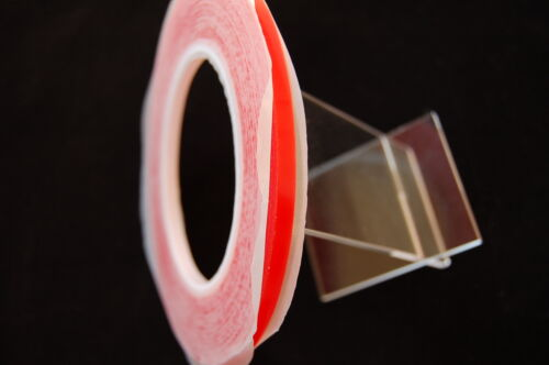 5MM X 33M RED  DOUBLE SIDED  TRANSPARENT TAPE ULTRA STRONG