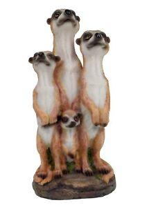 Erdmannchen-Familie-Figur-Gartenfigur-20-cm-Erdmannchenfamilie-Tierfigur-Meercat