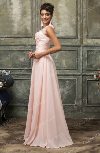 Women Long Chiffon /& Lace Evening Formal Party Ball Gown Prom Bridesmaid Dress