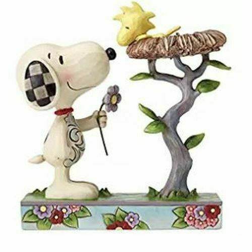 Peanuts Snoopy With Woodstock In Nest Figurine By Jim Shore 4054079 For Sale Online Ebay