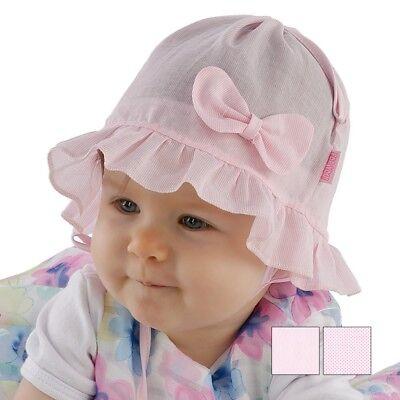 Fornito Baby Ragazze Cappello Primavera Estate Sole Cappello Cofano 0-12 Mesi- Grande Assortimento