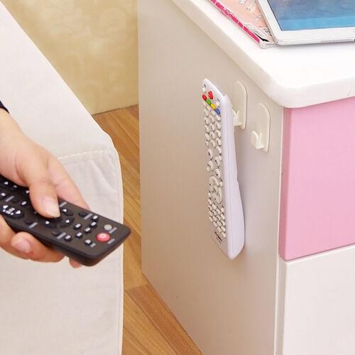 2 ABS TV-Fernbedienung Organisator-Speicher-Standplatz-Halter-Haken Steuersitz //
