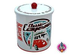 UFFICIALE VW Camper Van Rotondi Metallo Scatola per Biscotti LATTA Cookie Jar NUOVO