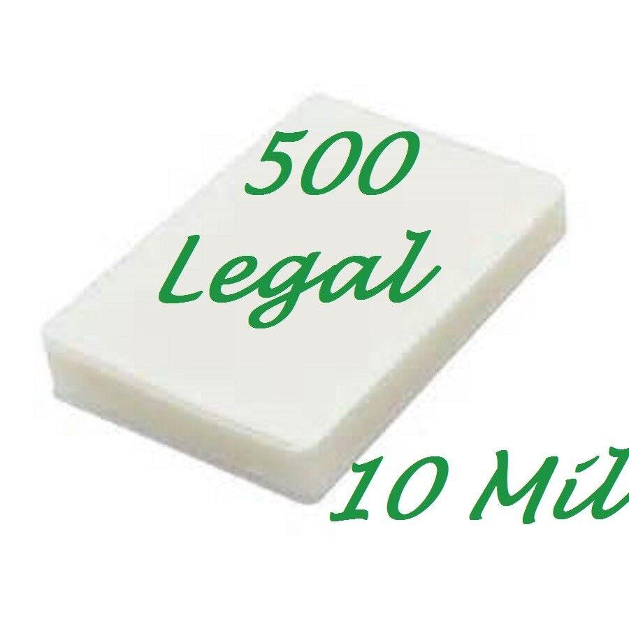 500 Legal 10 Mil Laminating Pouches Laminator Sheets 9 x 14-1 2 Scotch Quality