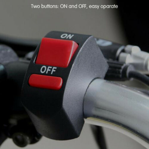 Motorcycle LED Light Switch Handlebar Mount Switch With ON//OFF Button ConnectoZY