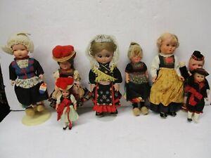 Vintage German Amsterdam Holland Celluloid Dolls Trachten Rozetta Puppen