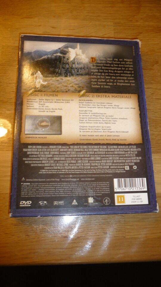 Ringenes herre kongen vender tilbage, DVD, eventyr