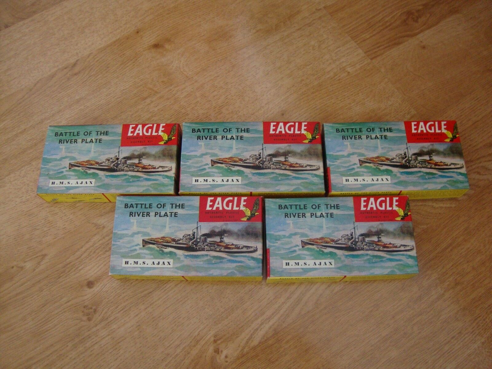 Job Lot RARE 5 x EAGLE Model Kits - Battle of the River Plate HMS Ajax 1 1200