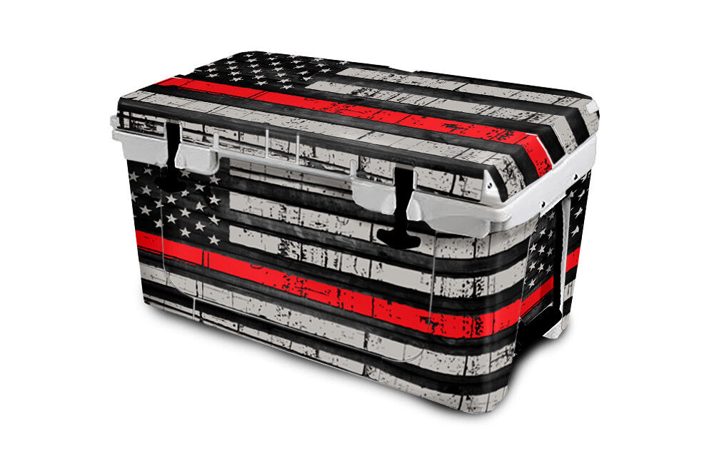USATuff Cooler Wrap Decal 'Fits 'Fits Decal New Mold' RTIC 65QT FULL USA ROT Line Flag acc760