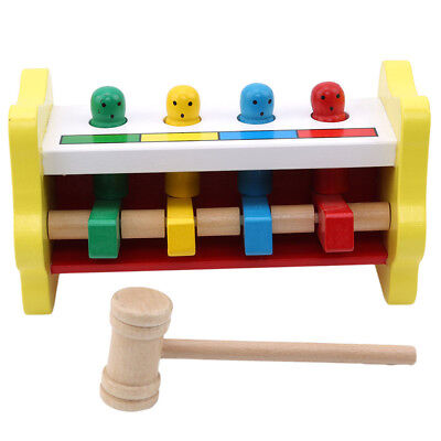 Children Educational Toy Wooden Sand Hammer Musical Instrument Toy Popular QL