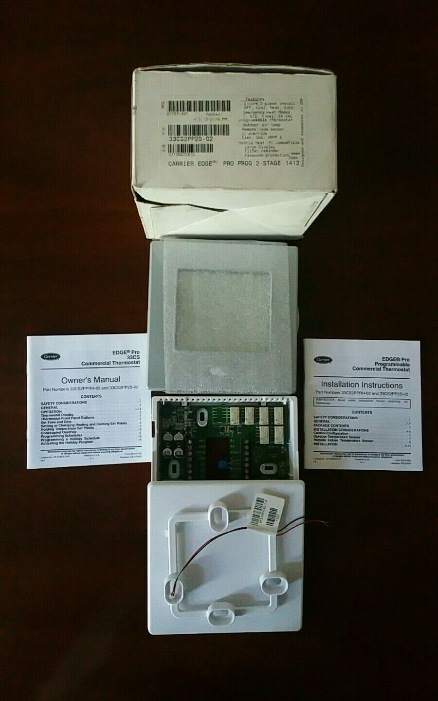 Carrier Edge Pro Programmable 2 Stage 33cs2pp2s 02 Thermostat For Sale Online Ebay
