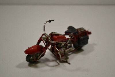 11 X 6 X 7 Cm Blech-mini-motorrad 17 Rot