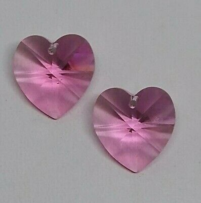 2pc 1pc Swarovski Crystal Clear AB Heart 6228 Pendant; 10mm or 14mm