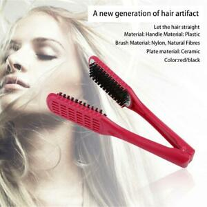 Ceramic-Straightening-Comb-Double-Sided-Brush-Clamp-Hair-Comb-Hairstylig-Tool-JL