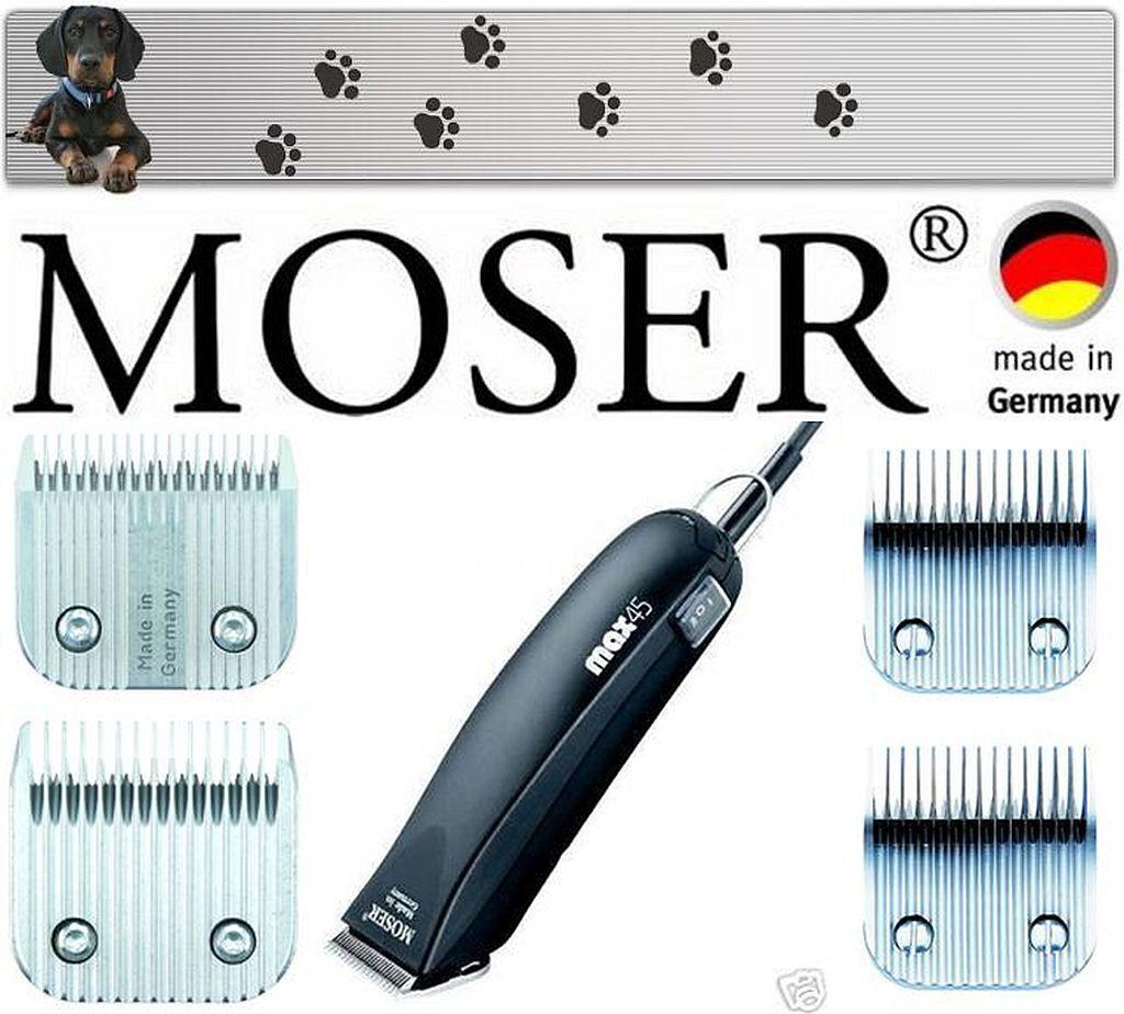 Moser 1245  MAX 45 TOSATRICE  4 teste da taglio 3mm, 5mm, 7mm, 9mm NUOVO