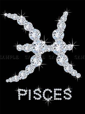 DIAMOND ZODIAC PISCES BLING VAJAZZLE HOROSCOPE PHOTO ART PRINT POSTER BMP345A