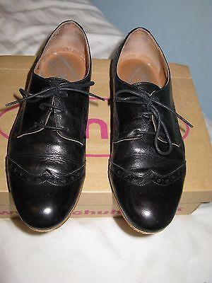 Scarpe Stringate Donna Uk 6 / Eu 39 Nere Cuoio Schuh Giada Bianca