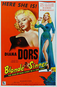 034-Blonde-Sinner-034-Diana-Dors-Classic-Movie-Poster-A1A2A3A4-Sizes