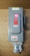 Appleton Interlocked Receptacle Safety Switch Disconnect 100a 100 Amp 3p 600v