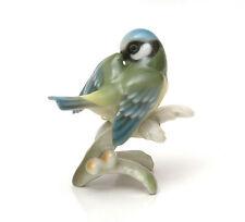 Hutschenreuther Porcelain Germany, Blue Titmouse Figurine #8309