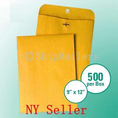 Clasp Envelopes Kraft 500//Case 9 x 12