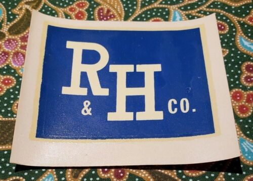 Vintage water decal slide R /& H Co TX Houston Decals