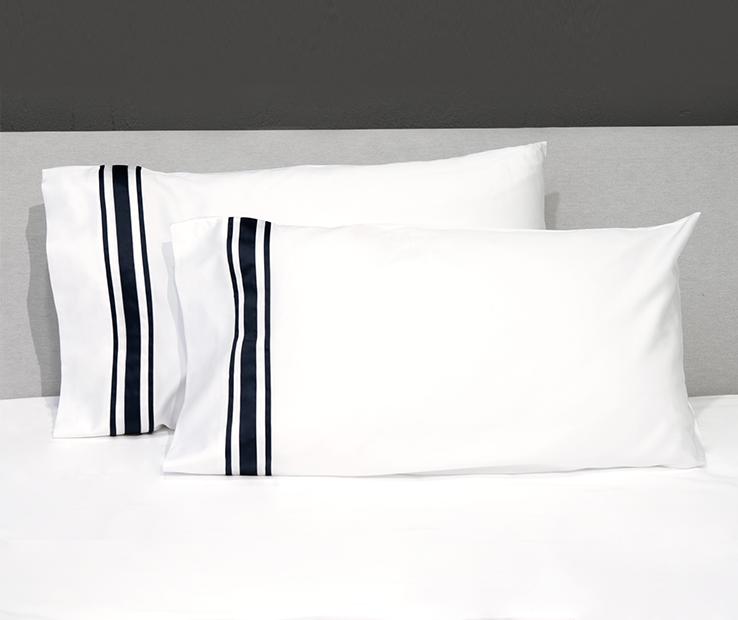 Signoria Firenze Tivoli Standard Kissenbezug Paar - Dunkelblau Weiß | Rich-pünktliche Lieferung