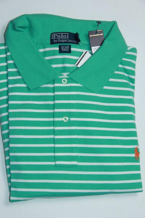 Polo Ralph Lauren Men Stripes Green and White  Shirt Small  Pony 3XB 3XBIG