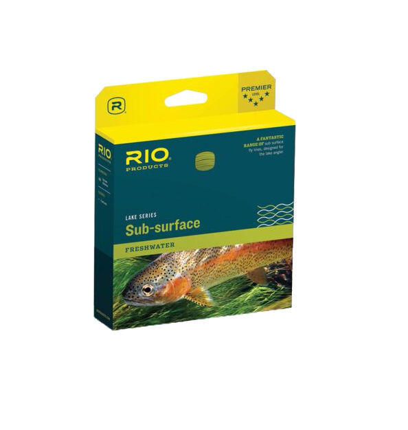 Rio Aqualux SUBSURFACE Fly Line WF8I NEW in Box  Clear  Trans verde CLOSEOUT