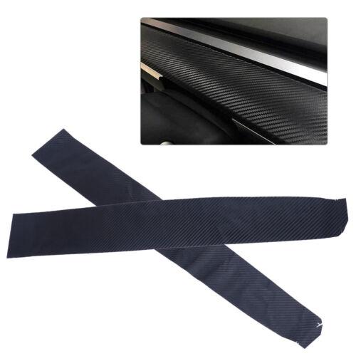 2stk/satz Fr Tesla Model 3 Innere Dashboard Kohlefaser Vinyl Wrap ...