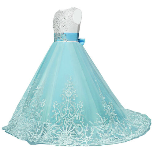 Wedding Flower Girl Kids Dress Communion Parties Princess Pageant Bridesmaid US