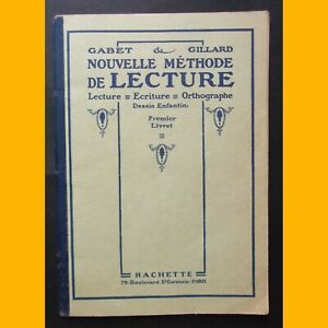 NOUVELLE-METHODE-DE-LECTURE-1er-Livret-Gabet-amp-Gillard-1955