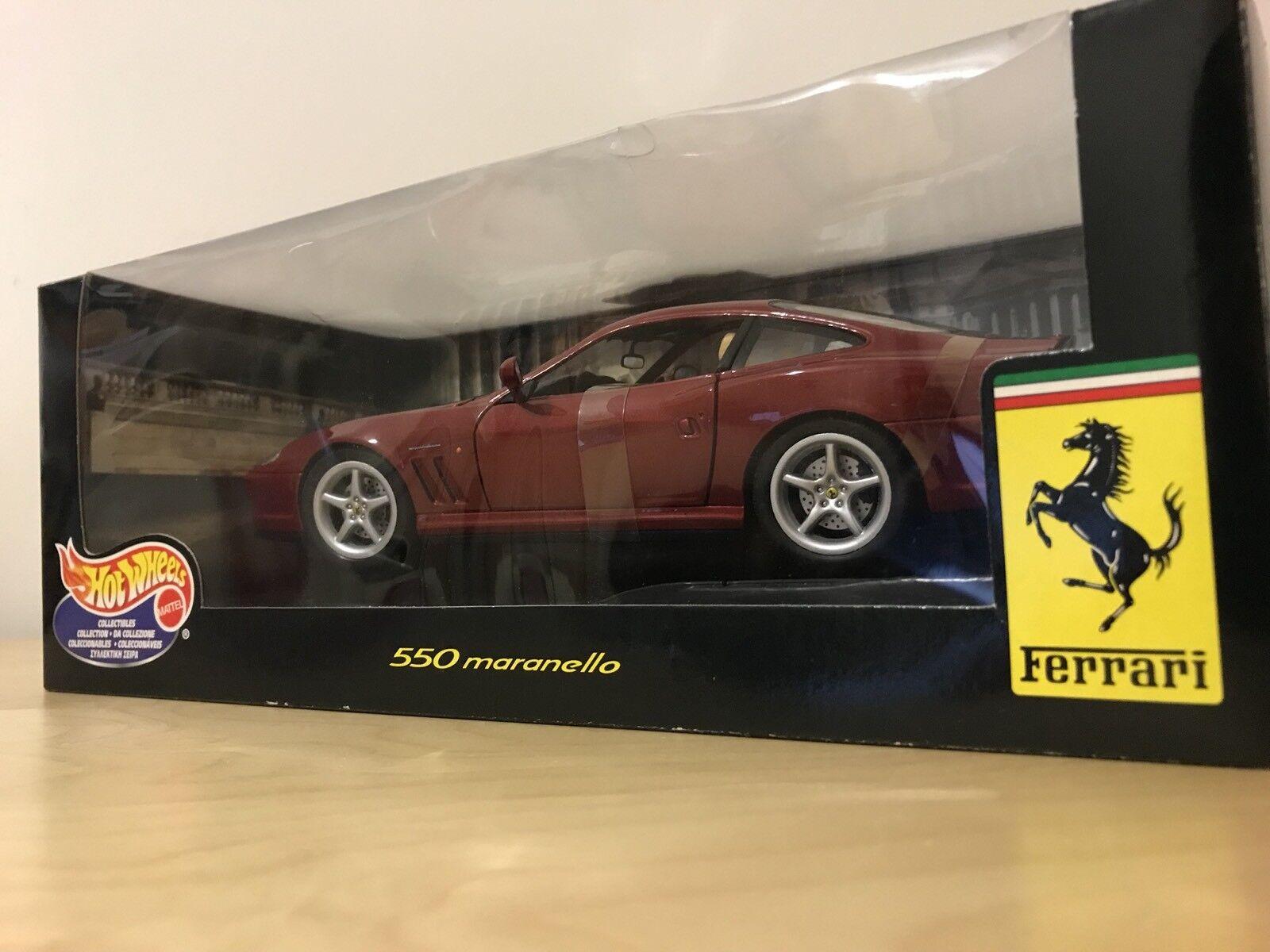 salida Hot Wheels 1 18 Escala-Ferrari 550 Maranello-Rojo Maranello-Rojo Maranello-Rojo Oscuro-Hotwheels Nuevo  precios bajos todos los dias
