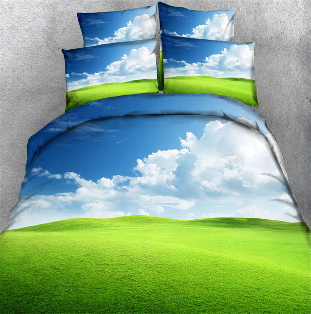 Boundless bluee Sky 3D Printing Duvet Quilt Doona Covers Pillow Case Bedding Sets