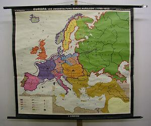 Cartina Europa 1860.Dettagli Su Poster Per Pareti Scolastiche Bella Vecchio Cartina Europa 1799 1815 Imperatore