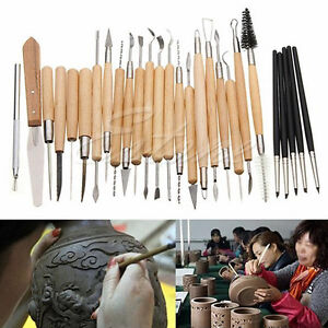 27PCS-Flexible-Silicone-Rubber-Shapers-Clay-Sculpting-Fimo-Modelling-Hobby-Tools