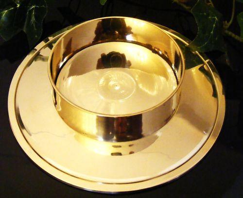 Kerzenständer Taufkerze Kommunionkerze Hochzeitskerze 70 mm in gold