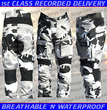 Motorcycle Trouser CE Approved Gray Camo Armour Cordura  MCT-1041 Size:32