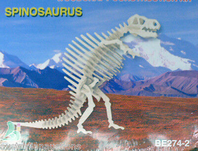 SPINOSAURUS DINOSAUR WOOD 3D PUZZLE EDUCATIONAL & FUN FOR ALL AGES