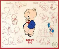 Porky Pig Fridge Magnet Logo 2. 4x5. Looney Tunes Cartoons.....free Shipping