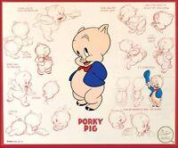 Porky Pig Fridge Magnet Logo 2. 4x5. Looney Tunes Cartoons.....free Shipping