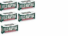 5 BARS Fels-Naptha 04303-01 Heavy-Duty Laundry Bar Soap, 5  oz