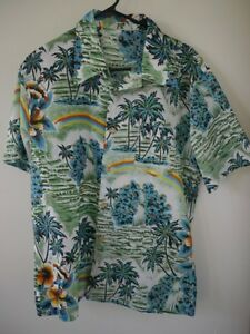 Vintage-60s-Royal-Islander-Tropical-Hawaiian-Aloha-Polyester-Short-Sleeve-Shirt