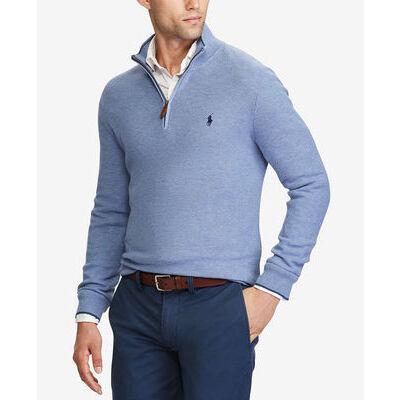 Men's POLO Ralph Lauren SWEATER Half Zip Sweatshirt S M L XL XXL Pony Longsleeve