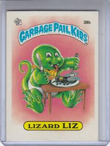 38b Lizard LIZ 1985 UK Garbage Pail Kids 1st Series Card