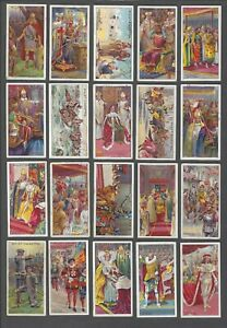 1911-Wills-039-s-Cigarettes-The-Coronation-Series-Tobacco-Cards-Complete-Set-of-50