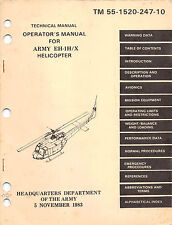 444 page 1999 bell uh 1h v uh 1 huey helicopter flight operator rh ebay co uk UH- 1D uh-1h/v helicopter operator's manual