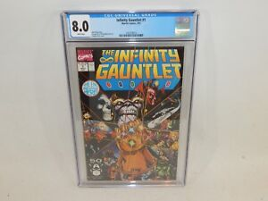 Infinity-Gauntlet-1-Marvel-Comics-Thanos-Jim-Starlin-July-1991-CGC-8-0-White